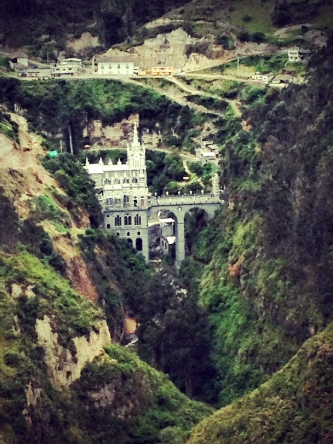 The view of Las Lajas from the steep walking path